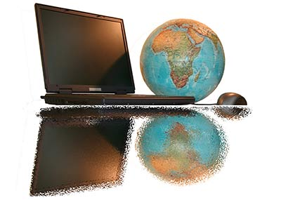 Nexus and Amazon rules- picture of a globe and a laptop
